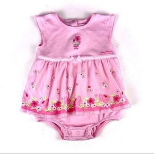Carters pink baby one piece dress